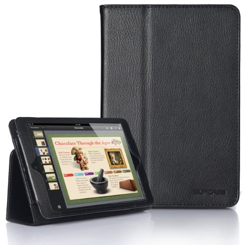 SupCase Slim Fit Folio Leather Case Cover for 7.9-Inch Apple iPad mini, Black (MN-62A-BK)