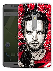 "Point Blank Shoot Printed Designer Mobile Back Cover For ""Motorola Moto X Play"" By Humor Gang (3D, Matte Finish, Premium Quality, Protective Snap On Slim Hard Phone Case, Multi Color)"