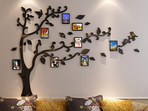 3d Picture Frames Tree Wall Murals for Living Room Bedroom Sofa Backdrop Tv Wall Background, Originality Stickers Gift, Removable Wall Decor Decal Sticker (50(H) x 70(W) inches) (Picture Tree For Wall compare prices)