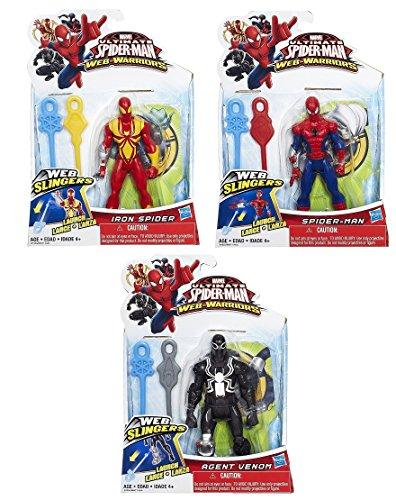 3 Pack of Marvel Ultimate Spider-man Web Warriors Action Figures