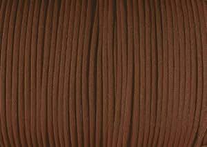 Parachute Cord Nylon 7 Strand 550lb Tested U.S MADE 100' (Chocolate Brown)