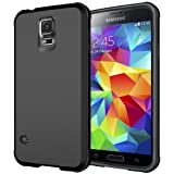 Galaxy S5 Case, Diztronic Matte Back Ultra TPU Case for Samsung Galaxy S5 (Black)