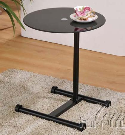 Buy Low Price Comfortable Laptop Stand with Glass Top in Black Finish (B0059EWYA6)