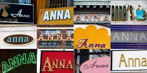 Anna Coffee Mug / Cup - Using Photos Of Real Name Signs - Personalized