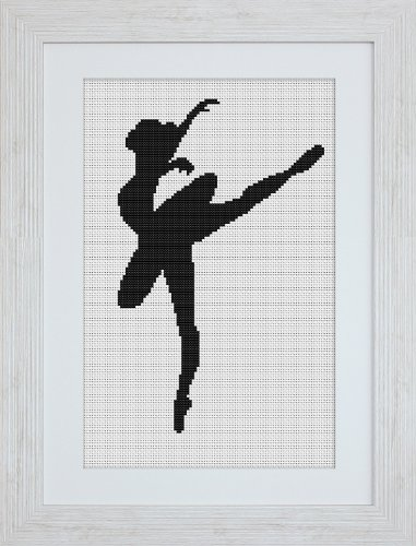 Luca-S - Kit per punto croce, motivo: ballerina, confezione da 1
