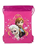 Disney Frozen Pink Elsa and Anna Drawstring Backpack