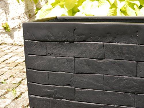 Pflanztrog-WALL-L80x-B30x-H40cm-aus-Fiberglas-wie-orig-Mauergestein-granitschwarz-Pflanztrge-Balkonkasten-Pflanzkbel-Blumenkbel