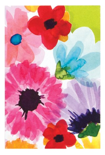 The Gift Wrap Company Gift Enclosure Cards with Yellow Envelopes, 4 Per Pack, Spectacular Spectrum Floral