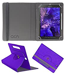 Acm Designer Rotating Leather Flip Case For Samsung Galaxy Tab Active Tablet Cover Stand Purple