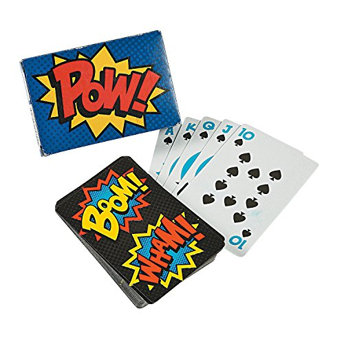 Superhero Playing Cards Party Favors - 12 packs