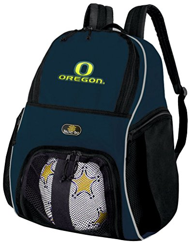 University Of Oregon Ball Backpack Navy Uo Ducks Soccer Ball Bag Basketball Backpacks Official Ncaa