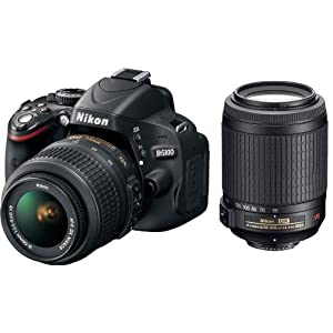Nikon D5100 16.2MP Digital SLR Camera with 18-55mm f/3.5-5.6G AF-S DX VR Nikkor Zoom Lens + AF-S DX VR Zoom-NIKKOR 55-200mm f/4-5.6G IF-ED