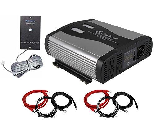 Cobra CPI2575 5000w Power Inverter + (2) Cable Kits + Remote Switch (5000 Watt Power Inverter compare prices)