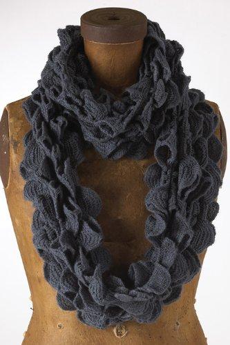 Fennco Ruffle Knit Infinity Loop Scarf