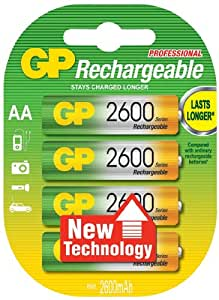 GP Batteries GP270AAHC-C4 Pack de 4 2700 mAh NiMH AA