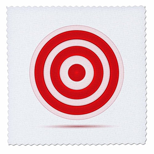 Anne Marie Baugh Targets - Red and White Target Circle - 10x10 inch quilt square (qs_125019_1) (Red And White Target compare prices)