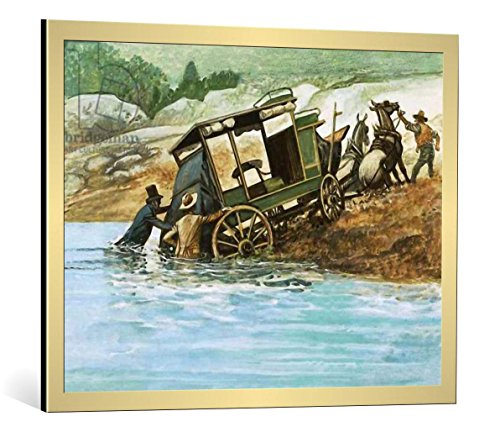framed-art-print-english-school-when-rivers-had-to-be-forded-the-passengers-got-out-and-helped-push-