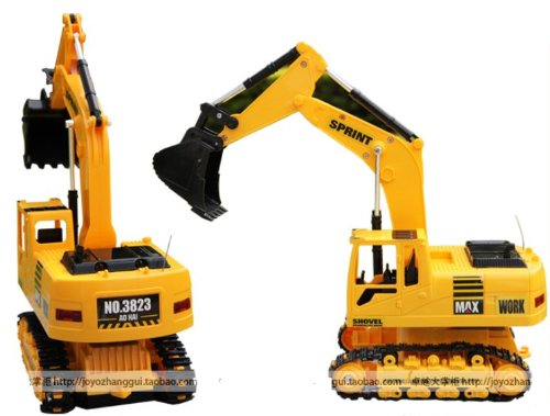Big Dragonfly New Super Fun High Quality Radio Controlled Excavator Toy Car For Preschool Children Wireless Rc Truck Max Rechargeable Yellow Best Birthday Gift For Boys front-986811