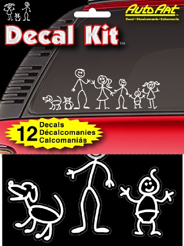 "Chroma Graphics 5309 Decal Kitz 6"" X 8"" Stick People Self-Adhesive Decal Kit front-157833"