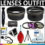 Polaroid Studio Series .43X HD Wide Angle Lens + Polaroid Studio Series 2.2x HD Telephoto Lens + Polaroid Optics...