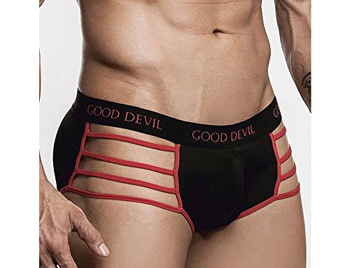 Good Devil GD6029 Strap Bikini Red/Black Mens Underwear (Good Devil Mesh compare prices)