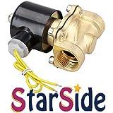 "StarSide 110V AC 3/4"" Electric Solenoid Valve Water Air Fuels N/C Gas Water Air"