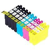 Blake Printing Supply Remanufactured Ink Cartridges Replacement For Epson 126 (4x Black 2x Cyan 2x Magenta 2x...