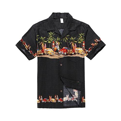 Palm Wave Men's Hawaiian Shirt Aloha Shirt 0