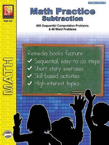Remedia Publications 507 Math Practice- Subtraction - 1