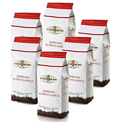 Miscela D'oro Gusto Classico Whole Beans 6-2.2 Pound Bags - The Best Espresso