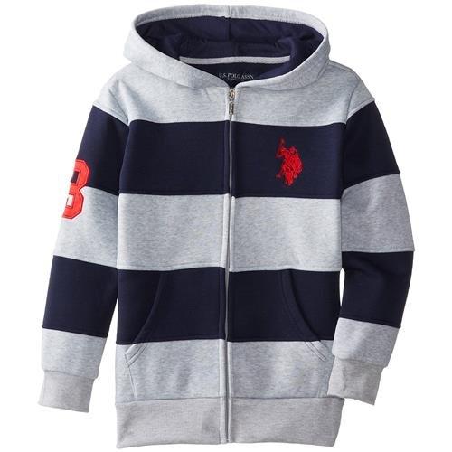 us-polo-assn-big-boys-cut-and-sew-wide-stripe-fleece-hoody-light-heather-grey-10-12