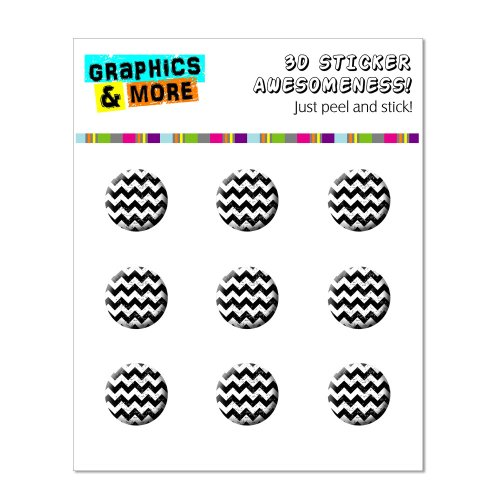 Graphics and More Vintage Chevrons Black Home Button Stickers Fits Apple iPhone 4/4S/5/5C/5S, iPad, iPod Touch - Non-Retail Packaging - Clear - 1