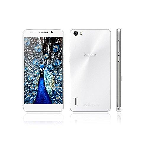 HUAWEI Honor 6 H60-L02スマートフォン(LTE対応) 4Gスマートフォン TDD-LTE FDD-LTE スマートフォン Kirin 920 1.3GHz 3100mAh デュアル SIM Android 4.4 オクタコア 5インチ TFT 1920 * 1080スクリーン 3GB RAM+16GB ROM 5MP 13MP デュアルカメラ並行輸入品