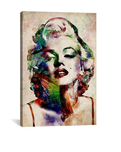 Michael Tompsett Watercolor Marilyn Monroe Gallery Wrapped Canvas Print