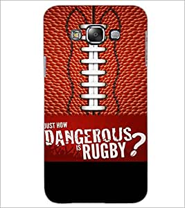 PrintDhaba Rugby D-5953 Back Case Cover for SAMSUNG GALAXY E7 (Multi-Coloured)