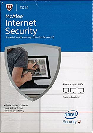 McAfee Internet Security 2015 3 Users 1 Year
