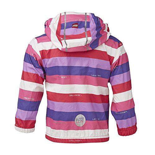 LEGO Wear Baby - Mädchen Regenbekleidung LEGO duplo Regenjacke JADE 203 gestreift, Gr. 92, Violett (675 LILAC) -