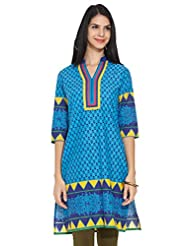 KARIGARI Ladies Cotton Printed KURTA - B00OBH9108