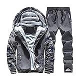 SemiAugust(セミオーガスト)メンズ 秋冬  ファッションジャケット アウトウェアパンツ 厚い迷彩ジャケット 高品質 男性用 カラーはダークグレー サイズは2XL