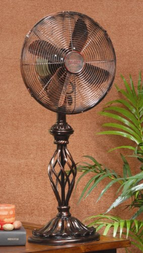 Deco Breeze Table Top Fan Prestige Rustica 2