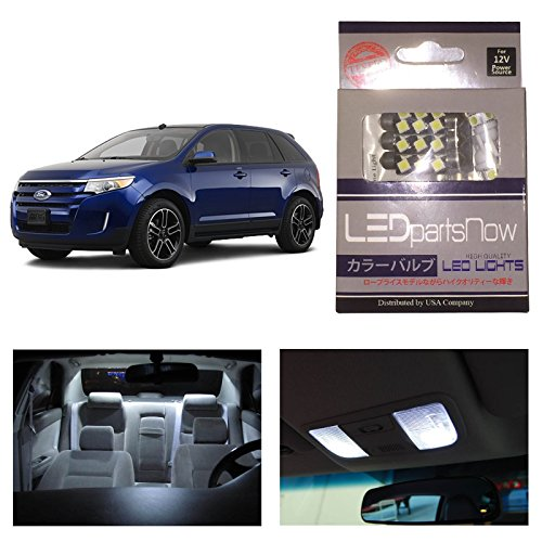 Ledpartsnow Ford Edge 2011-2014 Xenon White Premium Led Interior Lights Package Kit (10 Pieces)