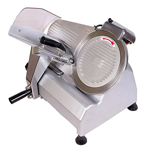"Hottool Food And Meat Slicer 10"" Blade Big Sliced Meat Exit Behind The Machine For Slice Meat Sliding Out Quickly Food Meat Chopper"