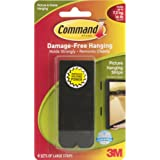 Command Large Picture-Hanging Strips, Black, 4-Strip