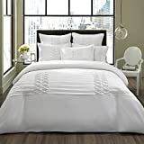 City Scene Triple Diamond Duvet Cover Set, King, White