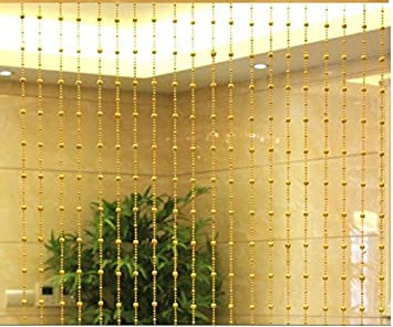 Buy Ramcha 4*7 Feet Sparkling Golden Bead Curtain Online at Low ...