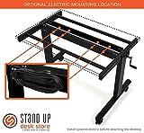 Höhenverstellbarer Schreibtisch (Rahmen schwarz / Hochglanzdeckel schwarz, Schreibtisch Länge: 120cm) -