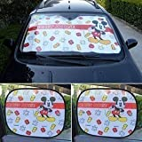 3pcs Mickey Mouse Auto Car Shade /Sun Shade Windshield front and side Screen Window Sun shade Blind heat Block Visors