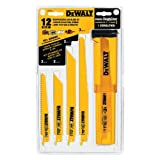 DEWALT DW4892 12-Piece Reciprocating Saw Blade Set with Case