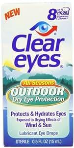 Clear Eyes All Season Outdoor Dry Eye Protection, 0.5 Fluid Ounce