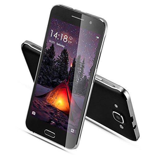TSJYING MTK6580 Unlocked Dual SIM GSM/3G Smartphone, 5.0-Inch 5.1 Quad Core 4GB 5MP and WiFi (Black)